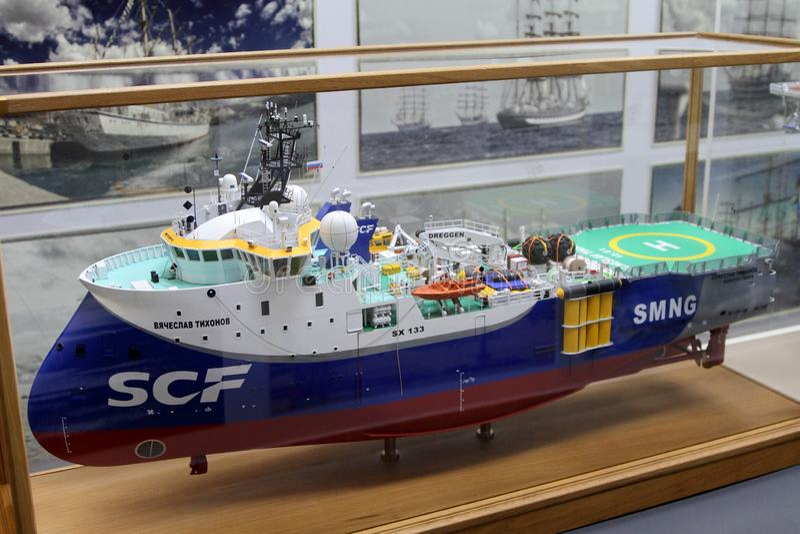 Model van het seismische onderzoeksschip royalty-vrije stock foto