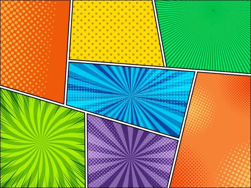 Model van kleurrijke grappige achtergronden royalty-vrije illustratie