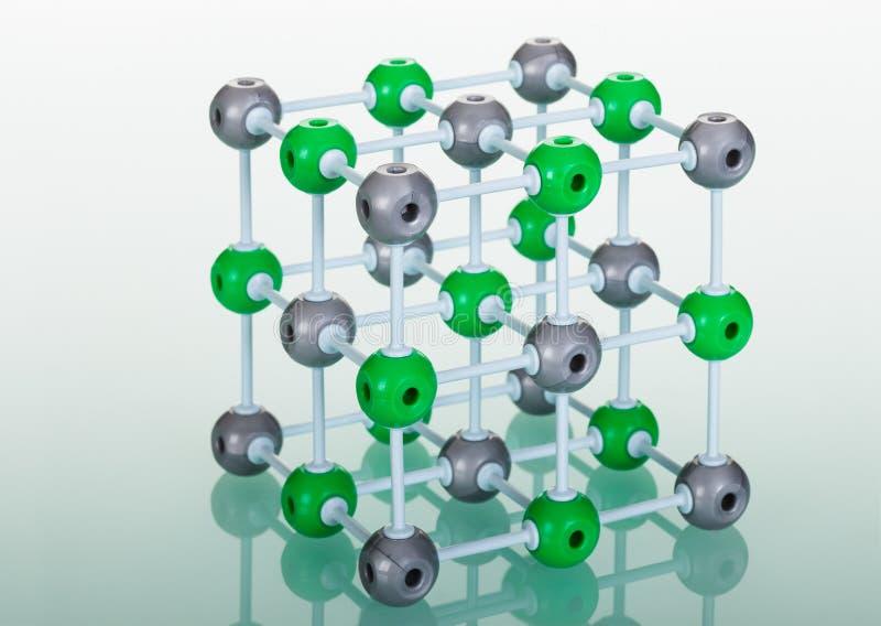 Model van de moleculaire structuur van NaCl royalty-vrije illustratie