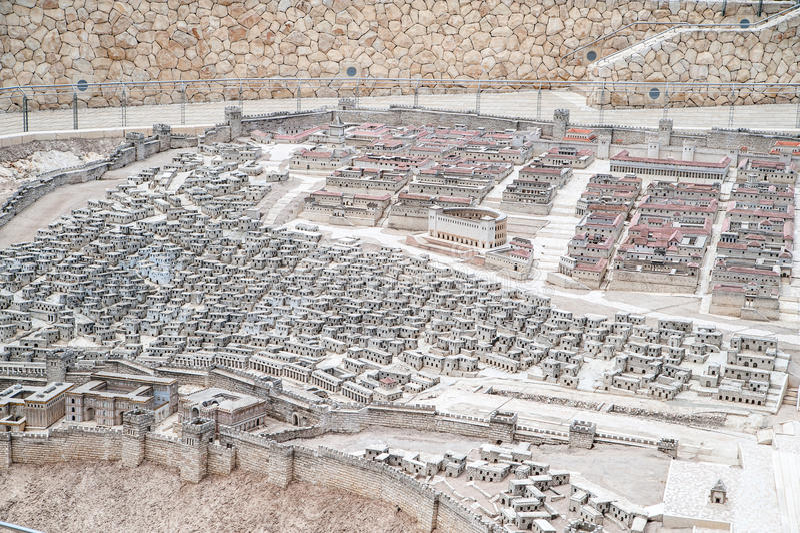 Model van oud Jeruzalem royalty-vrije stock afbeelding