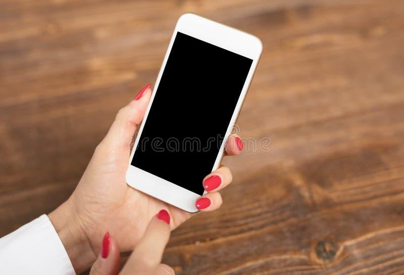Model van smartphone stock afbeelding