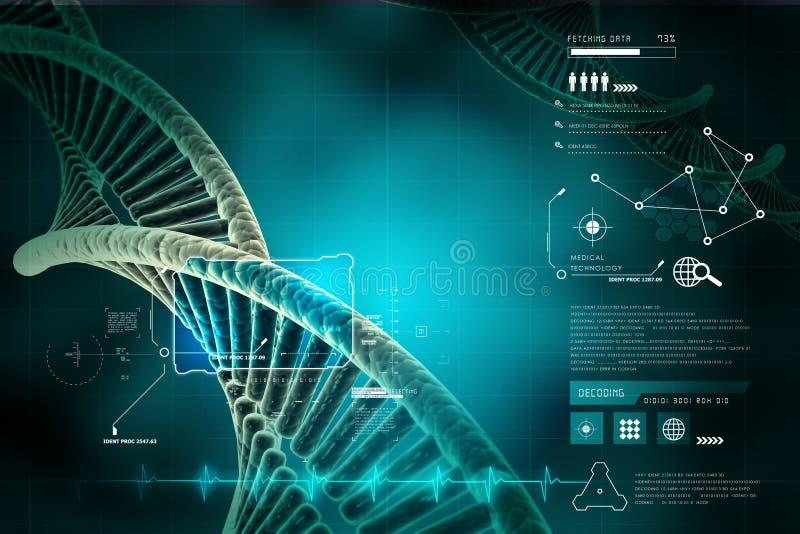 Model van verdraaide DNA-ketting royalty-vrije illustratie
