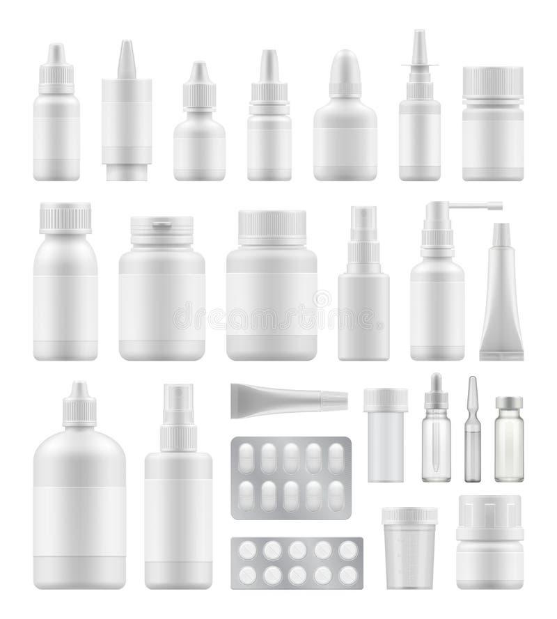 Model van witte plastic verpakking stock illustratie
