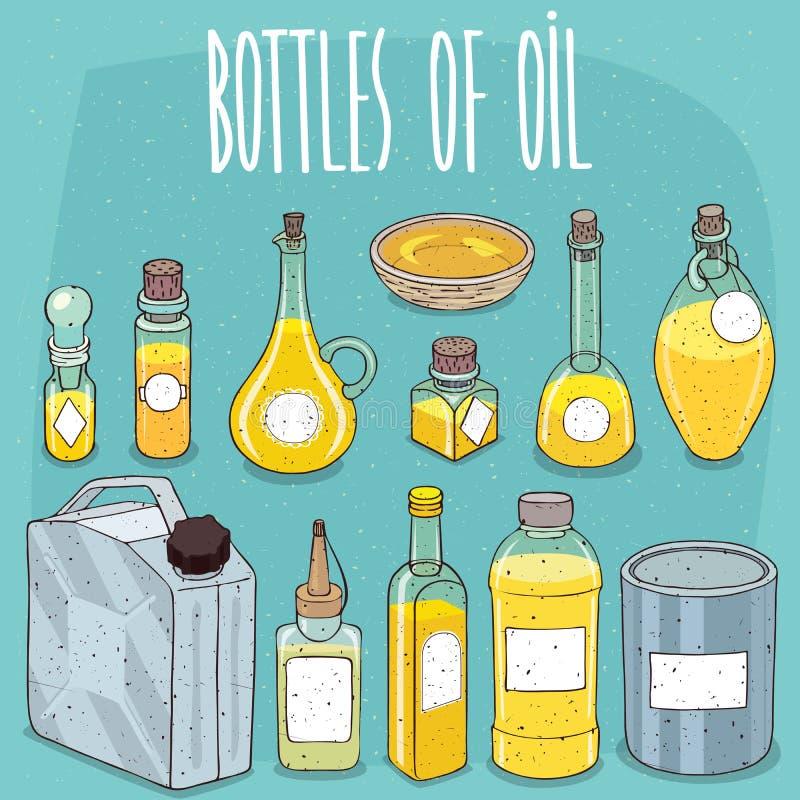 Model vastgestelde containers olie of gele vloeistof royalty-vrije illustratie