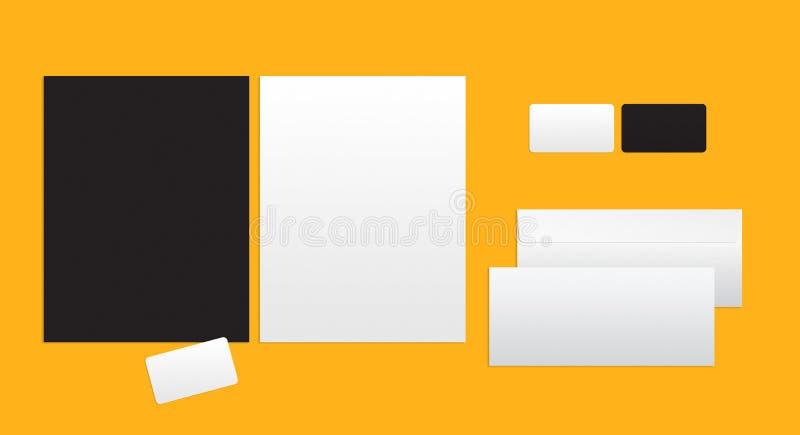 Model voor het brandmerken van identiteit stock illustratie