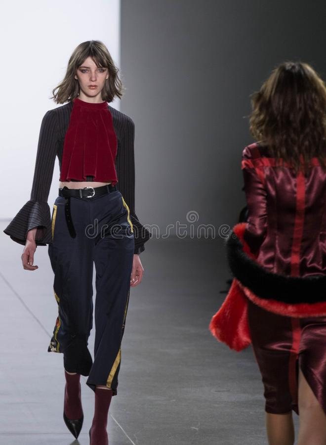 Vivienne Hu Fall/Winter Collection during New York Fashion Week royalty free stock photography