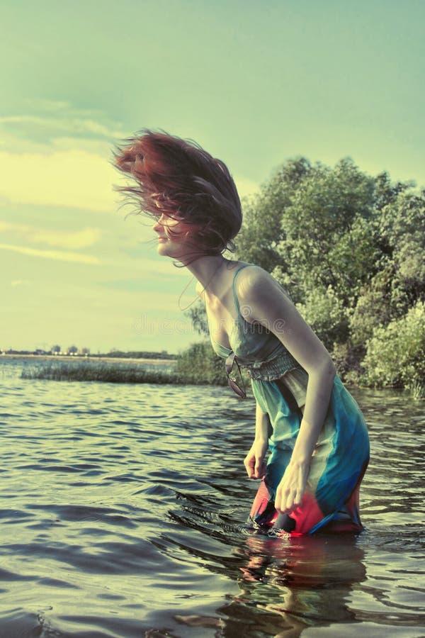 Model in water stock photos