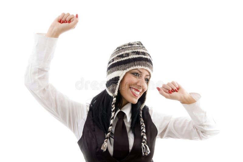 Download Model wearing winter cap stock image. Image of beautiful - 7361987