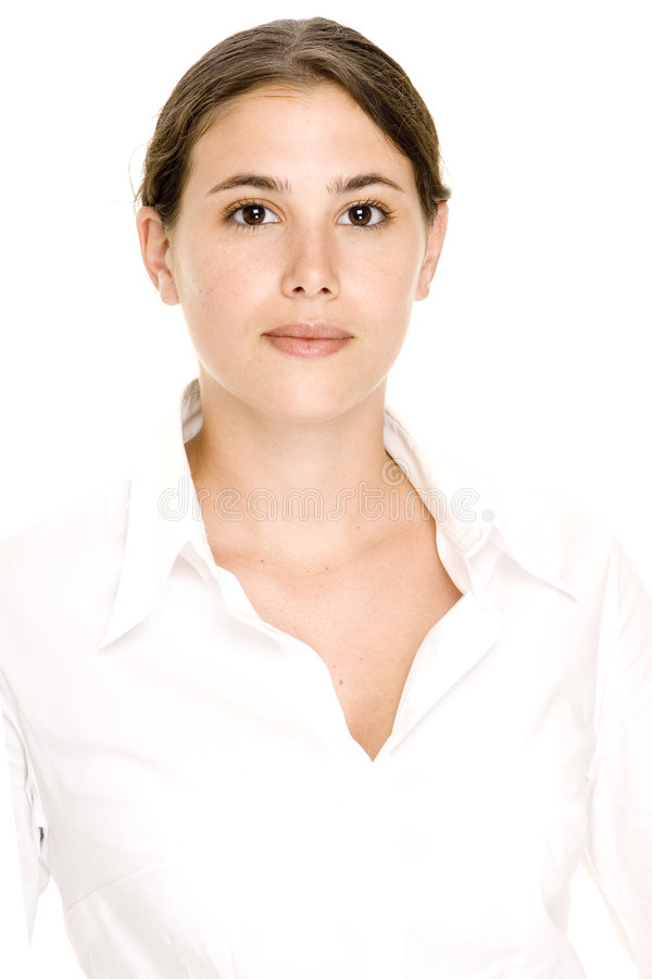 Model In White 1 royalty free stock photos