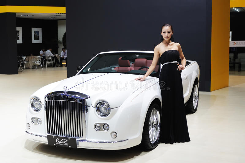 Download Model And White Mitsuoka Galue Convertible Front Editorial Image - Image: 17964700
