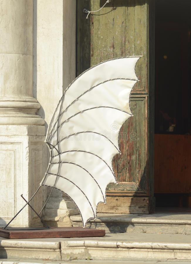 Download A Model Of A Wing Outside A Building In Venice. Stock Image - Image of building, travel: 88260145