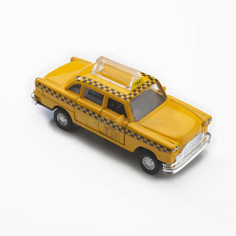 model of yellow new york city taxi cab stock photography