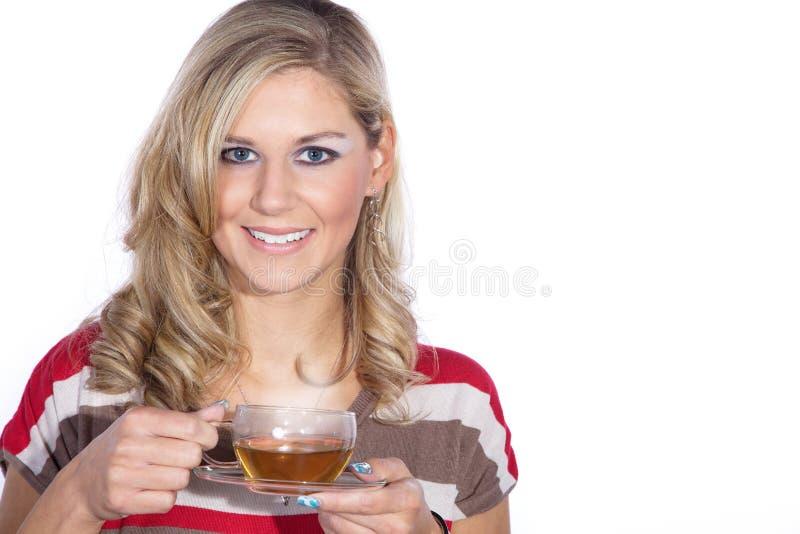 Model z herbatą zdjęcia stock