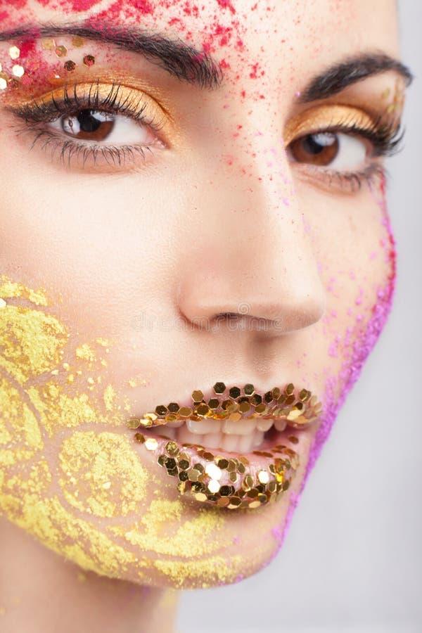 Model z nadzwyczajnym makeup obraz stock