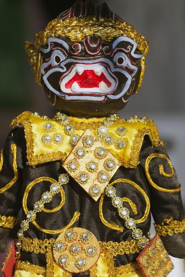 Model zwarte Hanuman voor marionet (marionet) stock foto's