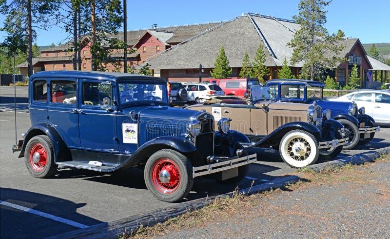 Modela ford in parkeerterrein royalty-vrije stock foto