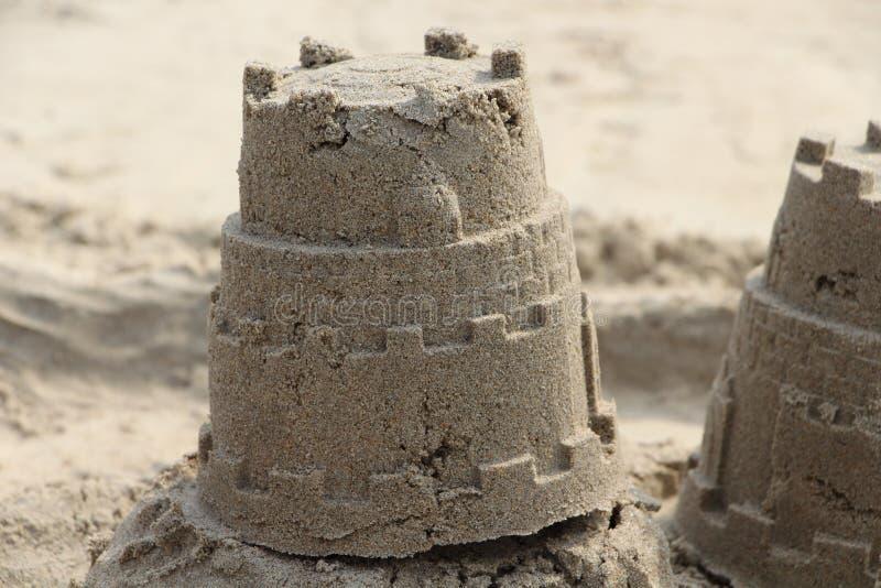 Modelado de la arena Concepto del día de fiesta Torre del castillo imagen de archivo libre de regalías