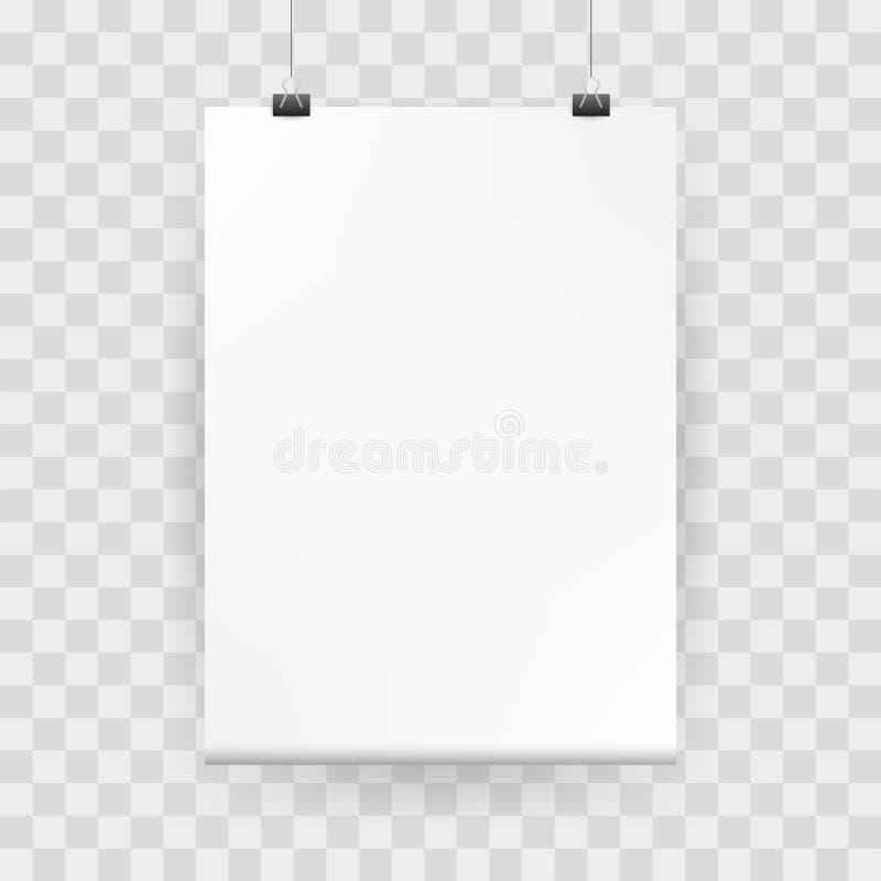 Modelaffiche Witte lege spot omhoog met bindmiddelen royalty-vrije illustratie