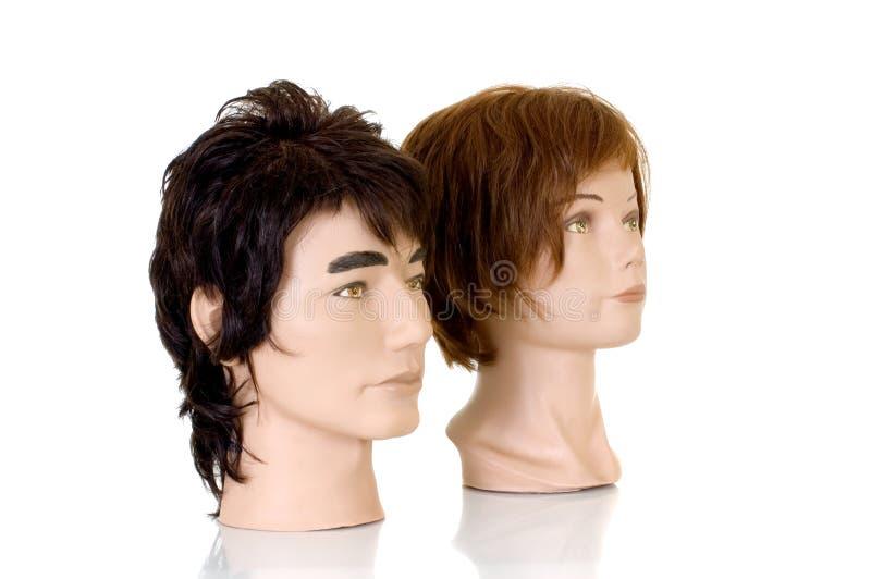 Modelando as cabeças imagens de stock royalty free