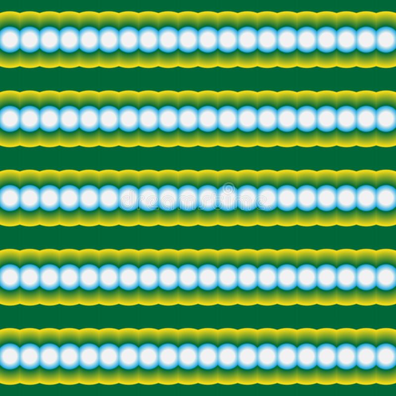 Modele incons?til, extracto de filas horizontales de c?rculos ilustración del vector