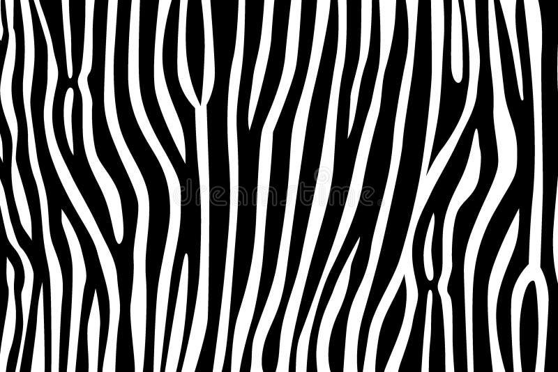 Modele o safari de selva branco do preto da listra da pele da zebra do tigre da textura ilustração do vetor