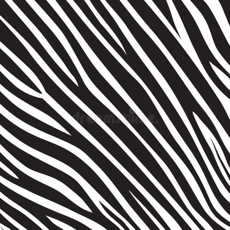 Modele o safari de selva branco do preto da listra da zebra do tigre da textura ilustração do vetor