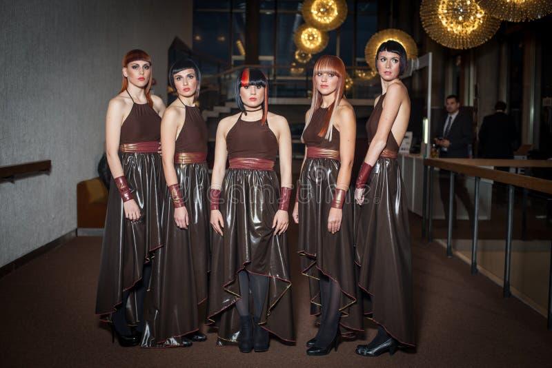 Modele przy Hairfest zdjęcia stock