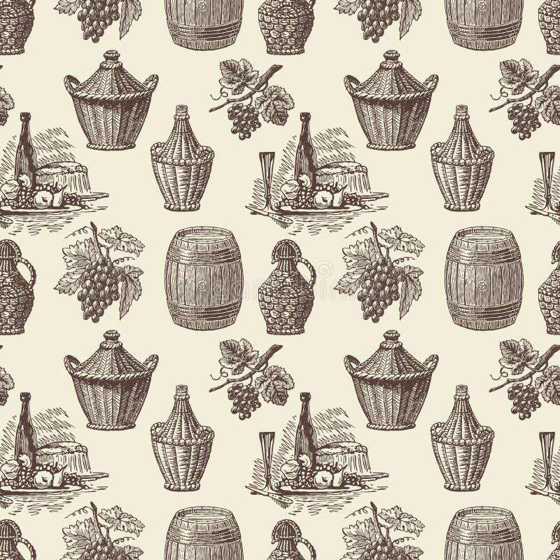 Modele um winemaking ilustração stock
