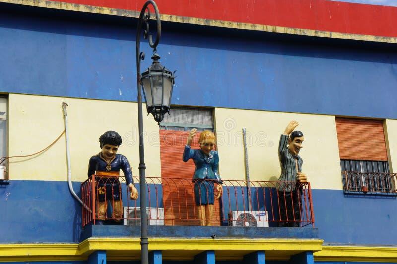 Modele w Caminito, los angeles Boca, Buenos Aires obraz stock
