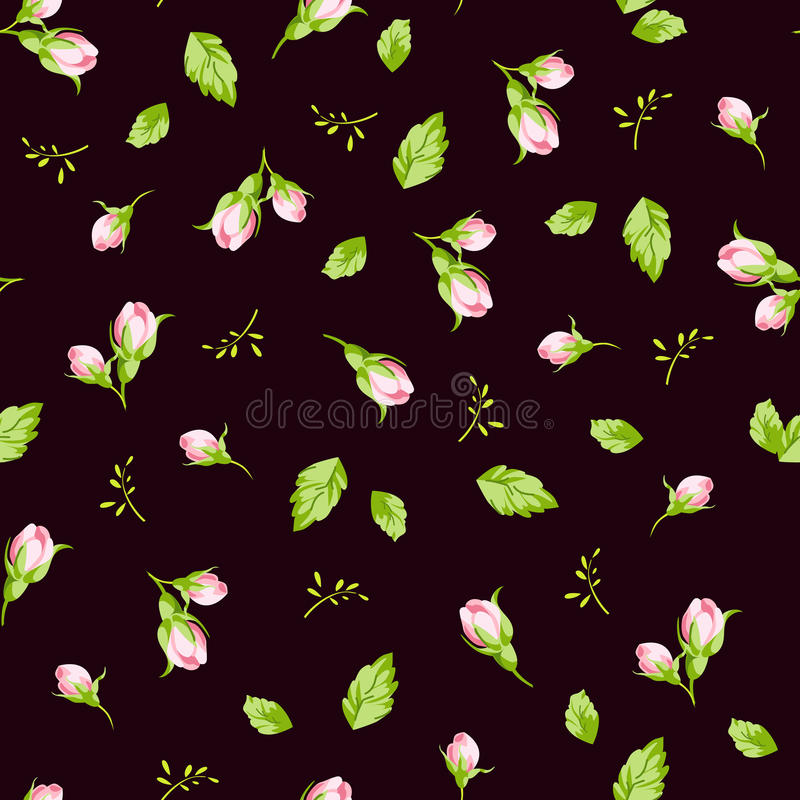 Modelez avec de petites roses de bourgeons illustration stock