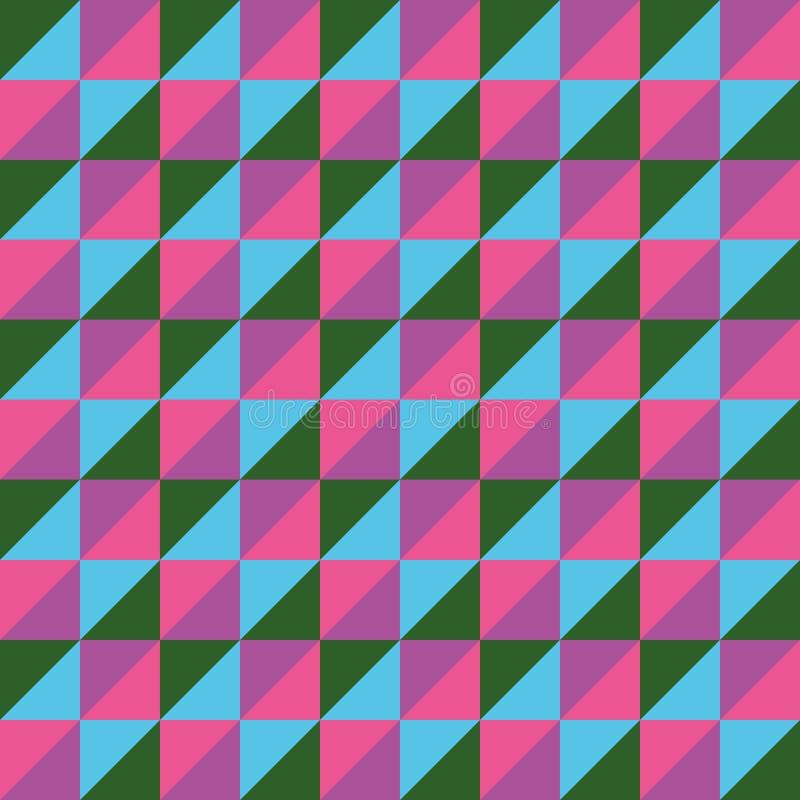 Modelez le bleu sans couture de rose de vert de triangle de polygone de vecteur illustration de vecteur