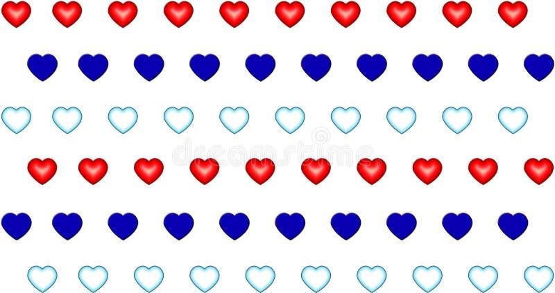 Modelez le symbole d'aqua de rouge bleu de coeur de la valentine d'amour illustration de vecteur