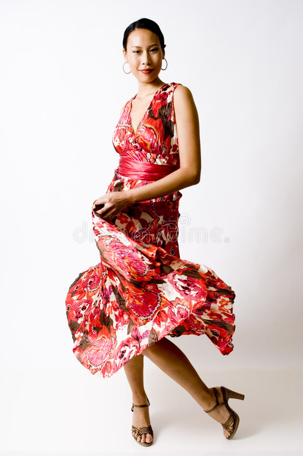 Modeling Dress royalty free stock images