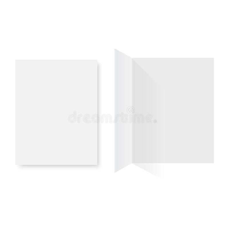 Modell öffnete Zeitschrift, Zeitschrift, Broschüre, Postkarte, Flieger, Visitenkarte oder Broschüre Auch im corel abgehobenen Bet vektor abbildung