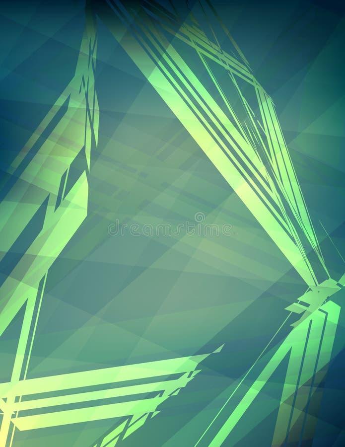 Modell av affischen med triangeln Det kan vara nödvändigt för kapacitet av designarbete vektor illustrationer