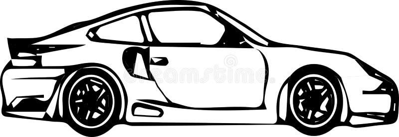 Modell av bilvektorn stock illustrationer