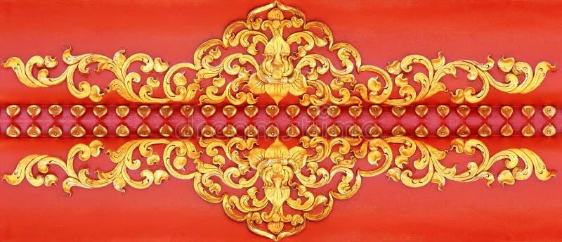 Modell av blommaguldväggen arkivbild