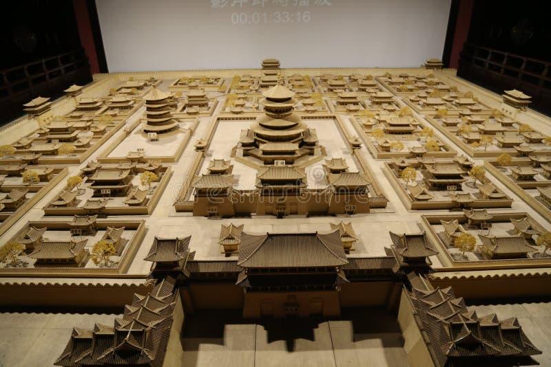 Modell av den forntida kinesiska staden royaltyfria foton