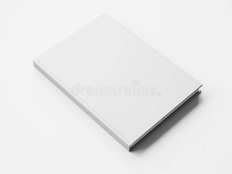 Modell av den tomma stora vita boken framförande 3d royaltyfri bild
