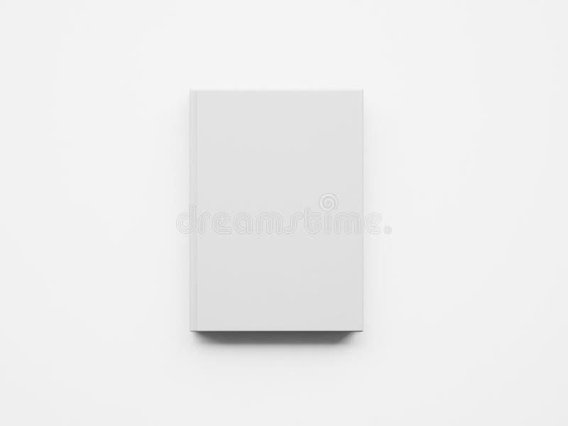 Modell av den vita boken framförande 3d royaltyfri bild