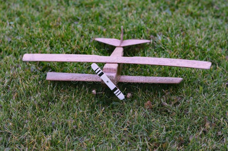 Modell av en flygplanbiplan royaltyfri fotografi