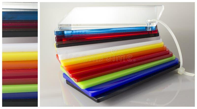 Modell av färger Plexiglas royaltyfria foton
