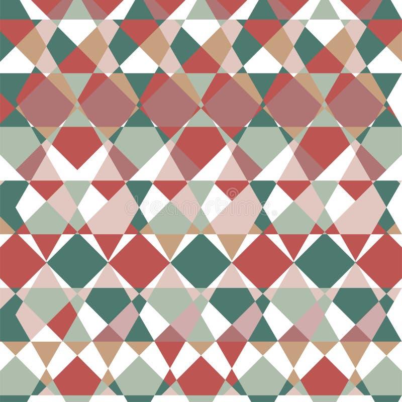 Modell av geometriska former Färgrik-mosaik Bakgrund vektor illustrationer