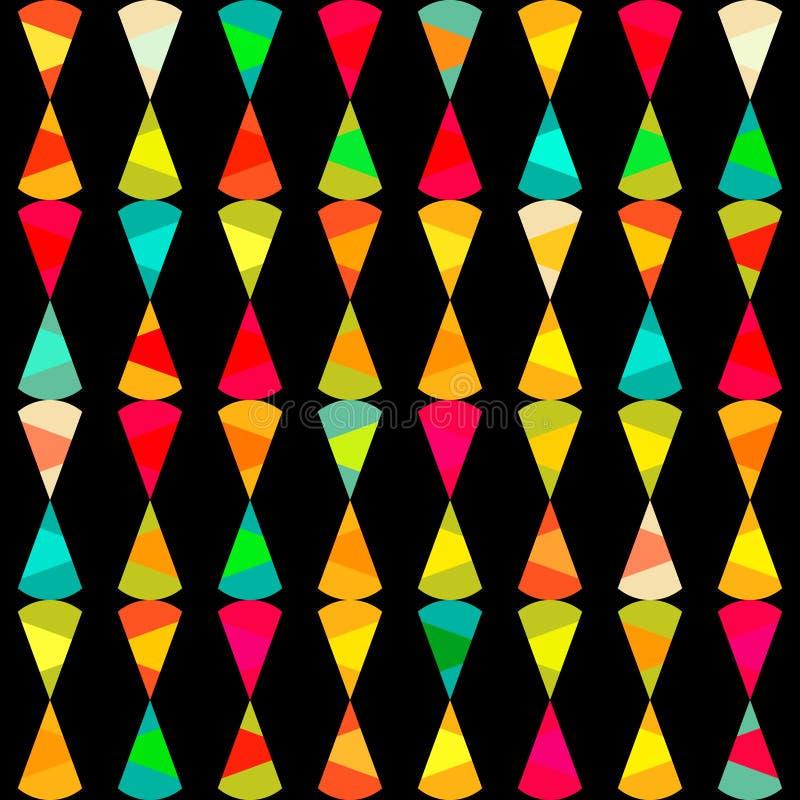 Modell av geometriska former. Textur med flöde av spektrumeffekt stock illustrationer