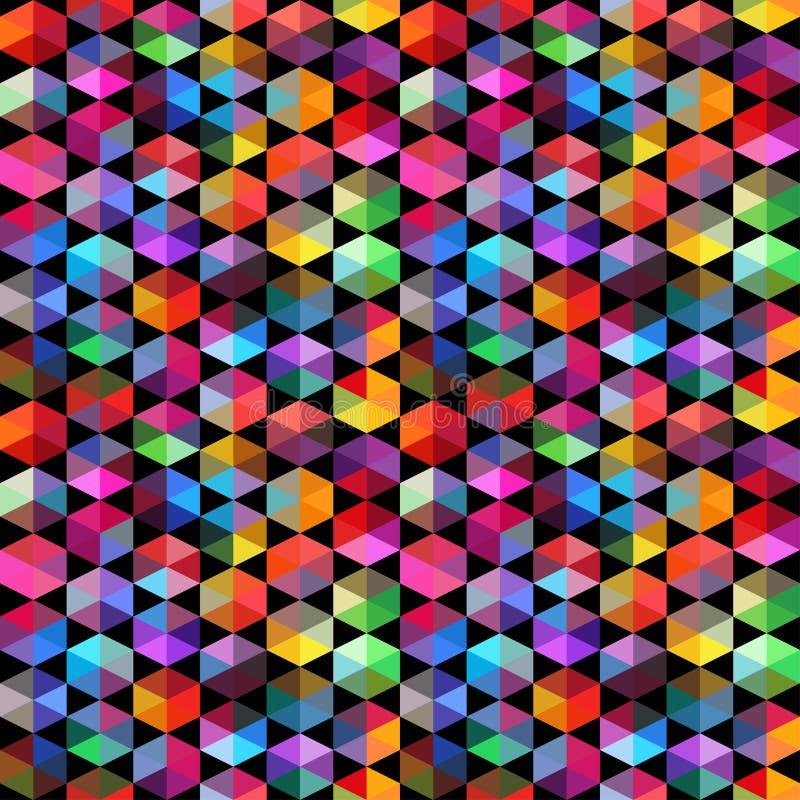 Modell av geometriska former trianglar geometrisk bakgrund stock illustrationer