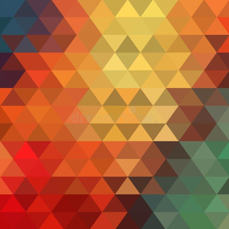 Modell av geometriska former trianglar Textur med fl?de av spektrumeffekt geometrisk bakgrund 10 eps vektor illustrationer
