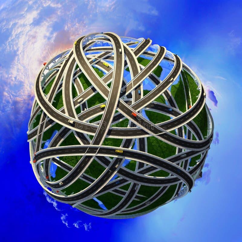 Modell av jordklotet vektor illustrationer