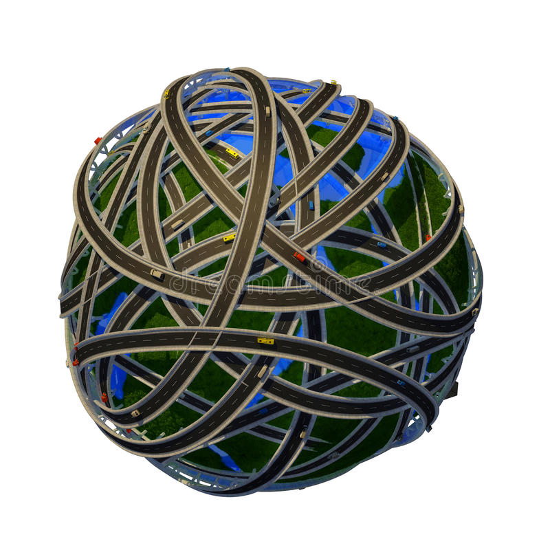 Modell av jordklotet stock illustrationer
