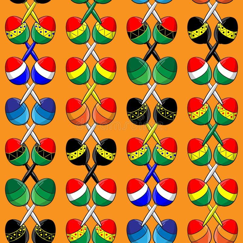 Modell av mexicanska maracas royaltyfri illustrationer