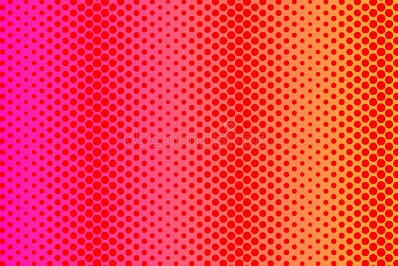 Modell av olika storleksanpassade prickar i slumpmässigt med upprepad spegelreflexion Idérik bakgrund för textilen, omslag royaltyfri illustrationer